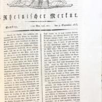 Rheinischer Merkur, 9. September 1815